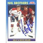 Kevin Miller Detroit Red Wings 1991 Score NHL Brothers Autographed Card  This item comes with a cer
