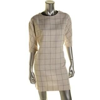Kule Womens Lucy Linen Plaid Casual Dress - 8