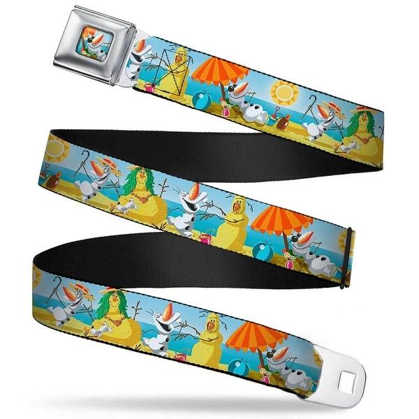 Olaf Tanning Pose Full Color Olaf Summertime Beach Scenes Webbing Seatbelt Seatbelt Belt