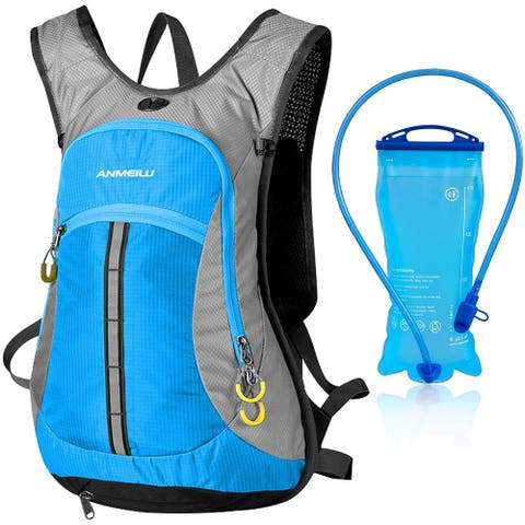 Hydration Pack with Bladder Large Storage 2L Hydration Backpack - Blue
