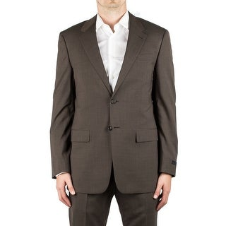 Prada Men's Pure Virgin Wool Two-Button Multi-Colored Pinstripes Brown Suit - 40r