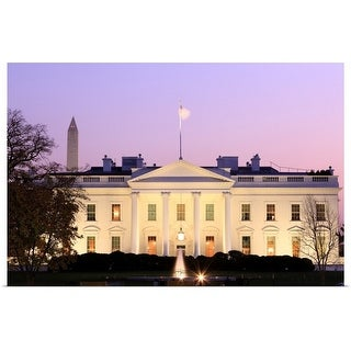 """White House, Washington DC"" Poster Print"
