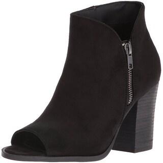 Carlos by Carlos Santana Womens Jade Fabric Peep Toe Ankle Fashion Boots