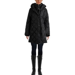 Larry Levine Womens Quilted Down Parka - XL