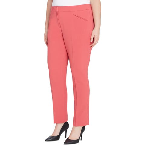 Tahari ASL Womens Plus Dress Pants Crepe Textured