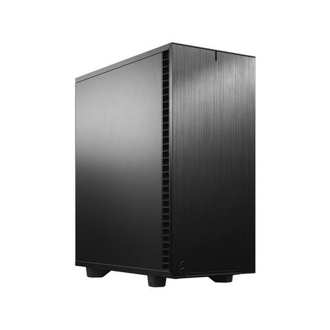 Fractal Design Define 7 Compact Black Brushed Aluminum/Steel ATX Compact Silent Mid Tower Computer Case - 21.1 x 20.51 x 12.2