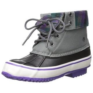 Northside Carrington Girl's Waterproof, Gray/Purple, Size 13 M US Little Kid - 13 m us little kid