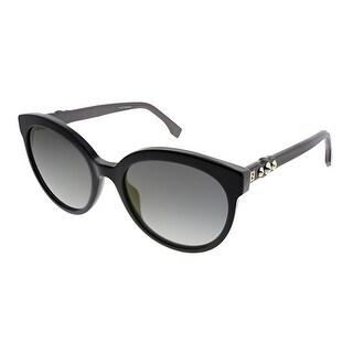 Fendi Fun Fair FF 0268 807 FQ Womens Black Frame Grey Mirror Lens Sunglasses
