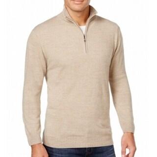 Weatherproof NEW Ivory White Mens Size 3XL Vintage Quarter Zip Sweater