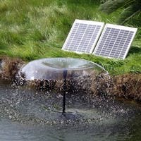 Sunnydaze Solar Pump and Solar Panel Kit with Battery and LED Light - 396 GPH