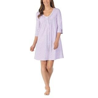Carole Hochman Women's Lilac Ditsy Soft Jersey Sleepshirt