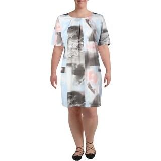 Junarose Womens Plus Cocktail Dress Printed Short Sleeves - 22