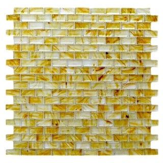 """Miseno MT-SIENNA5/8RECT Sienna - 5/8"""" X 1-1/4"""" - Glass Visual - Wall Tile (Sold by Sheet) - N/A"""