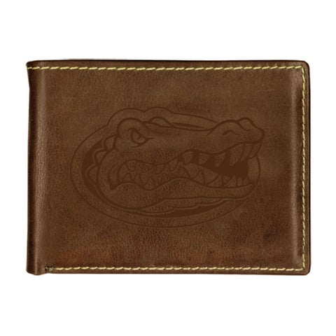University of Florida Contrast Stitch Bifold Leather Wallet