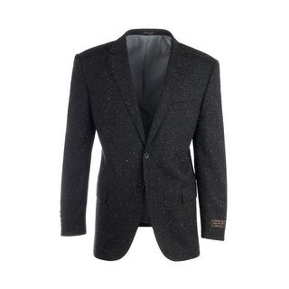 Novello Black Modern Fit, Pure Hopsack Wool Jacket by Tiglio Luxe FJ8031/2