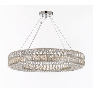 Crystal Spiridon Ring Chandelier Modern / Contemporary Lighting Pendant 12 Lights