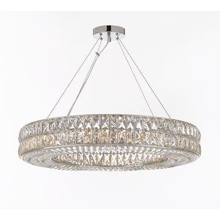 Gallery ceiling lights for less overstock crystal spiridon ring chandelier modern contemporary lighting pendant 12 lights aloadofball Image collections