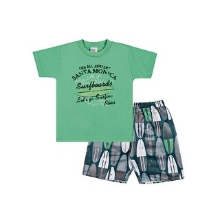 Toddler Boy Outfit Graphic T-Shirt and Shorts Set Pulla Bulla Sizes 1-3 Years