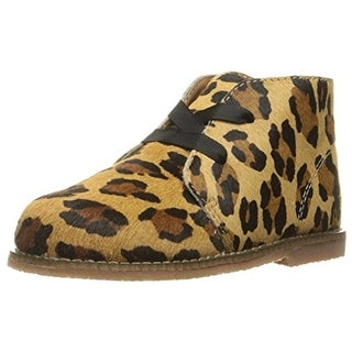 Polo Ralph Lauren Girls Chukka Boots Animal Print Calf Hair