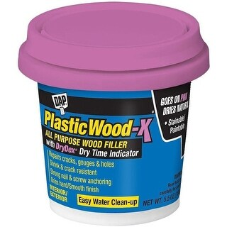 Dap 00540 Plastic Wood-X Stainable Wood Filler With DryDex, 5.5 Oz