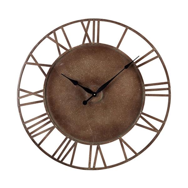 """Elk Home 128-1002 31-1/2"""" Diameter Metal Analog Outdoor Wall Clock - Parity Bronze"""