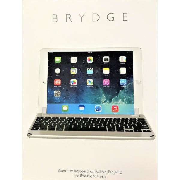 Brydge 9.7 Bluetooth Keyboard for NEW Apple iPad 9.7, Pro 9.7, Air 1 & 2 –Silver