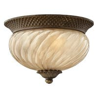 Hinkley Lighting H2128 2 Light Outdoor Flush Mount Ceiling Fixture from the Plantation Collection