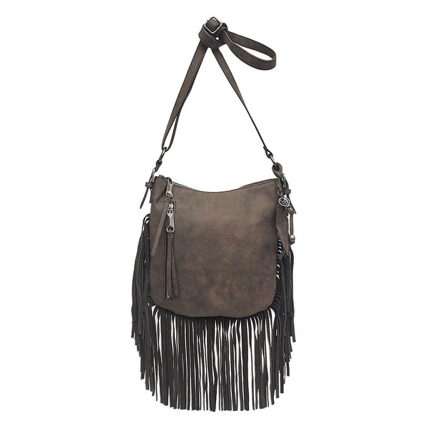 Jessica Simpson Womens Delilah Crossbody Handbag Faux Leather Adjustable