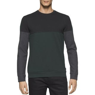 Calvin Klein Mens Crewneck Sweater Ponte Colorblock