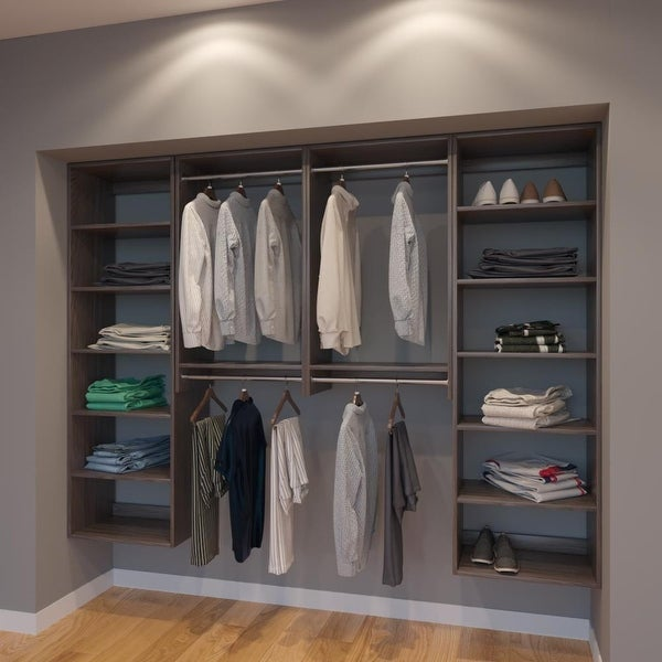 Modular Closets 8FT Closet Organizer System   96 Inch   Style B