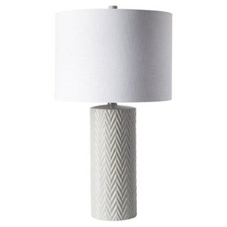 14x15x17 collapsible drum lamp shade premium light oatmeal linen 24 white chevron swirled ceramic table lamp with linen drum shade mozeypictures Gallery