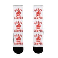 LookHUMAN Happy Camper US Size 7-13 Socks