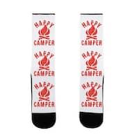 LookHUMAN Happy Camper US Size 7-13 Socks
