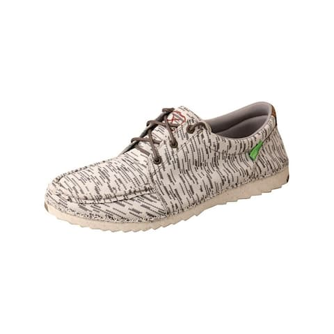 Twisted X Casual Shoes Mens Zero-X Lace Up White Gray