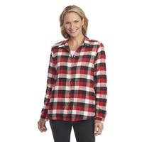 Woolrich Pemberton Fleece Lined Flannel Shirt Jacket, Womens Old Red Buffalo - old red - XS