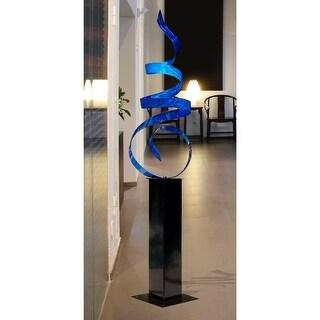 Statements2000 Extra Large Blue Modern Metal Garden Sculpture Indoor/Outdoor Yard Art by Jon Allen - Blue Sea Breeze 24