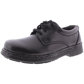 JJ School Boys Ted Round-Toe Shoes Solid Leather - 10 medium (d)