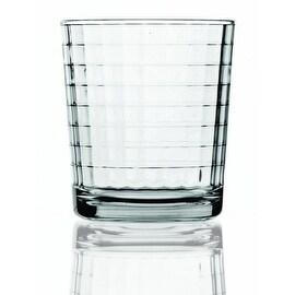 Palais Glassware® Vitre Collection; High Quality Glass Beverage Set (Set of 4 - 13 Oz DOF Glasses, Clear)