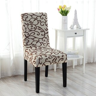 Unique Bargains 6 Pcs Elastic Short Decorative Dining Chair Cover