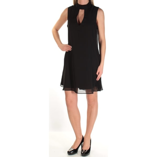 Shop Bcbgeneration Womens Black Cut Out Sleeveless Turtle Neck Above