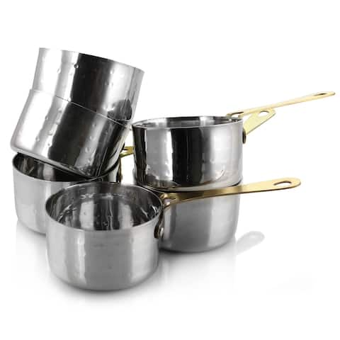 Gibson Home Lannister 6 pc 3 in Mini S/S Sauce Pan Cookware Set