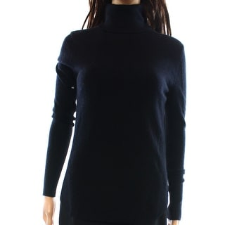 360 Sweater NEW Black Women's Size Small S Solid Turtleneck Wool Sweater