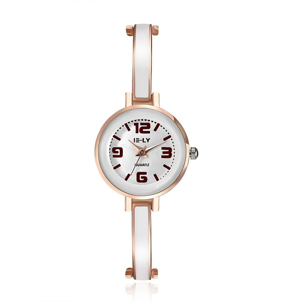 Thin Line Petite Ivory Rose Gold Watch
