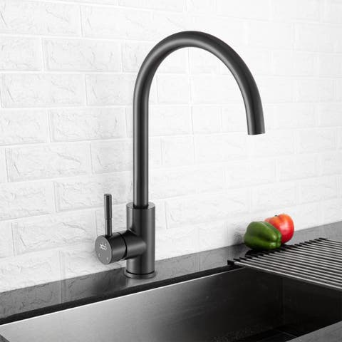 Kitchen Faucet with Ceramic Valve in Matte Black
