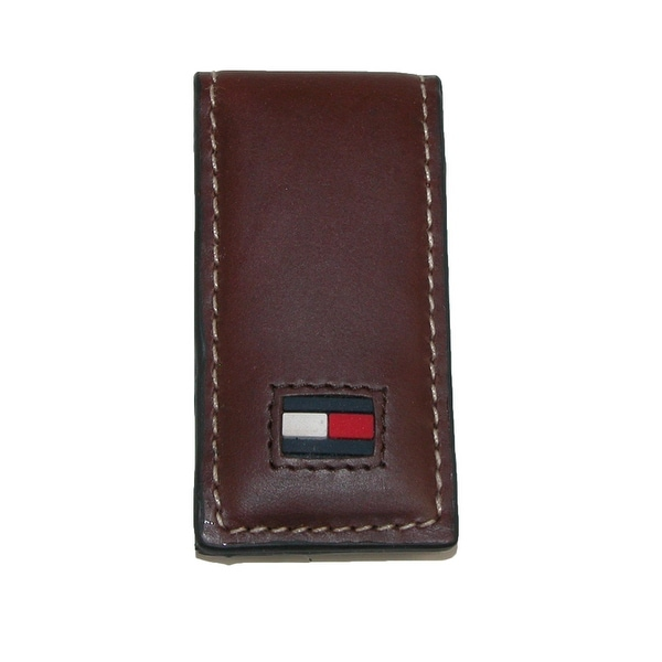 Tommy Hilfiger Men's Leather Square End Magnetic Money Clip - One size