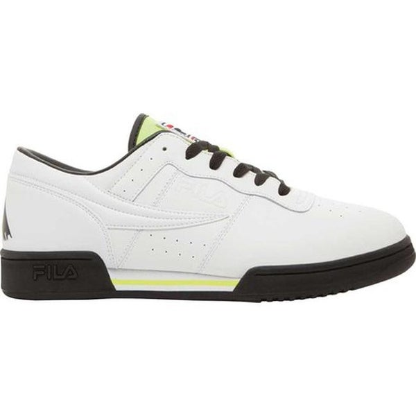 441e94ede2f7 Shop Fila Men s Original Fitness Logo Sneaker White Black Safety Yellow -  Free Shipping Today - Overstock - 20561514