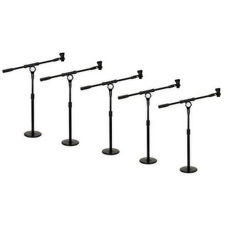 Podium Pro MS4 Tabletop Boom Microphone Stands Mic Clamp Clips Adjustable 5 Stand Set MS4MC1-5S