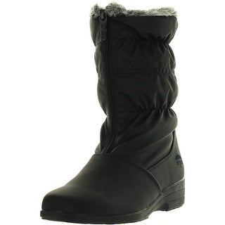 Totes Womens Peggy Winter Waterproof Snow Boots - Black