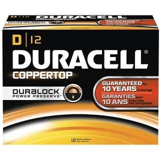 Duracell DMN1300BKD Coppertop D Battery, Bulk (Package of 12) - na - N/A