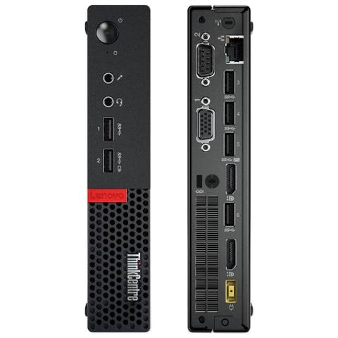 Lenovo ThinkCentre M715Q AMD A12-9800E X4 3.1GHz 8GB 500GB Win10, Black (Certified Refurbished)